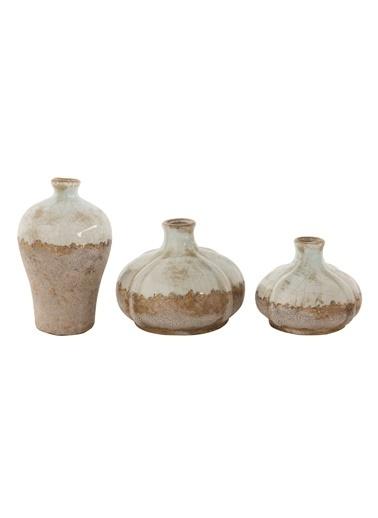 Warm Design 3'Lü Terra Cotta Vazolar Renkli